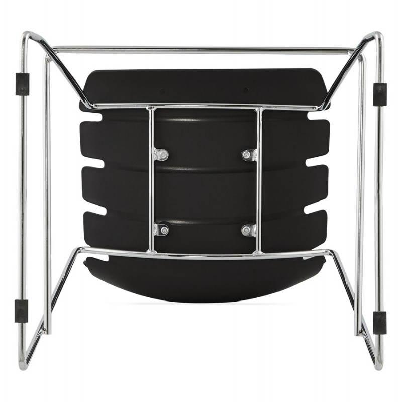 Tabouret de bar mi-hauteur design BRIO en polypropylène (noir) - image 27607