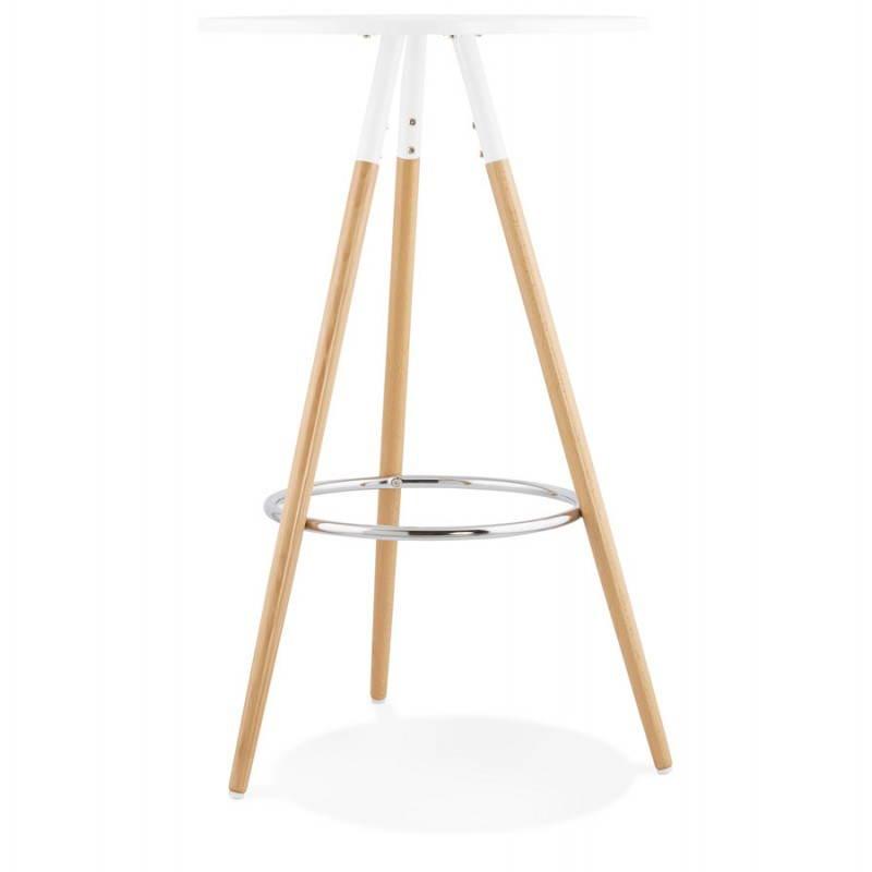 runder tisch skandinavischen julie aus holz 65 cm hoch wei natur. Black Bedroom Furniture Sets. Home Design Ideas