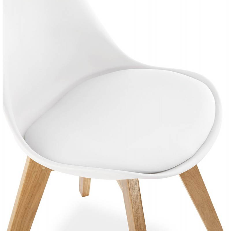 Chaise contemporaine style scandinave FJORD (blanc) - image 27628