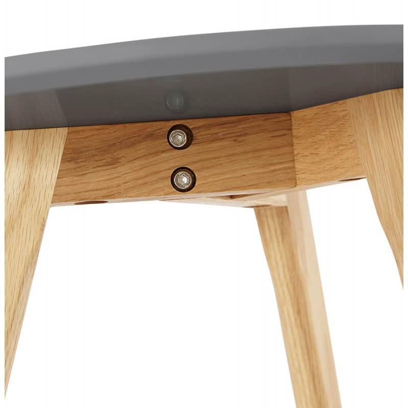 Tables basses design gigognes ART en bois et chêne massif (gris foncé) - image 27786
