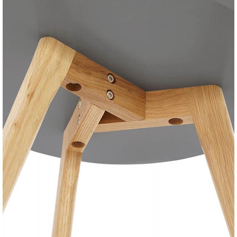 Tables basses design gigognes ART en bois et chêne massif (gris foncé) - image 27787