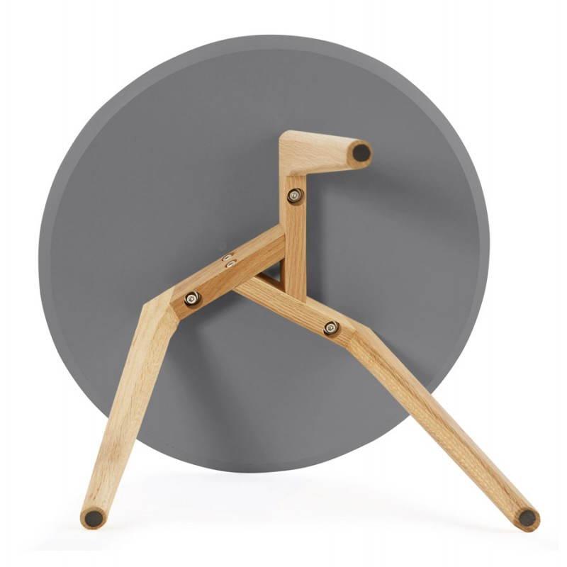 Tables basses design gigognes ART en bois et chêne massif (gris foncé) - image 27790