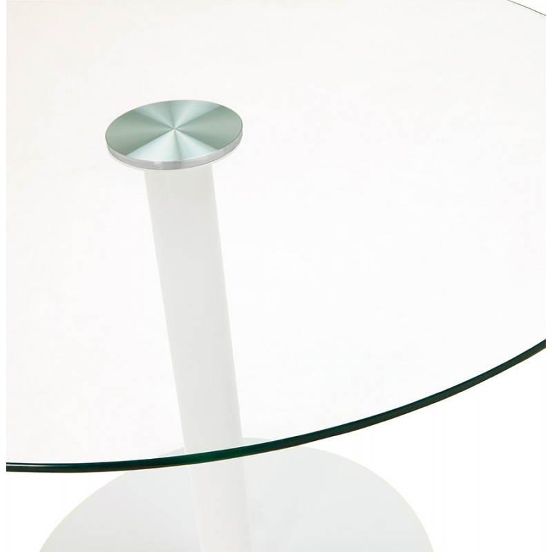 ... Runder Esstisch Design ELSA In Glas Und Metall (Ø 110 Cm) (transparent)  ...