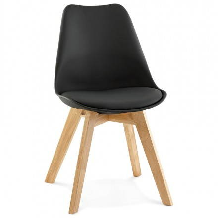 Contemporary Chair style Scandinavian FJORD (black)
