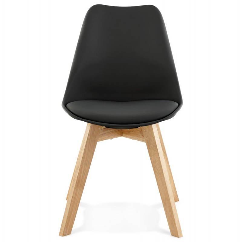 Chaise contemporaine style scandinave FJORD (noir) - image 27806