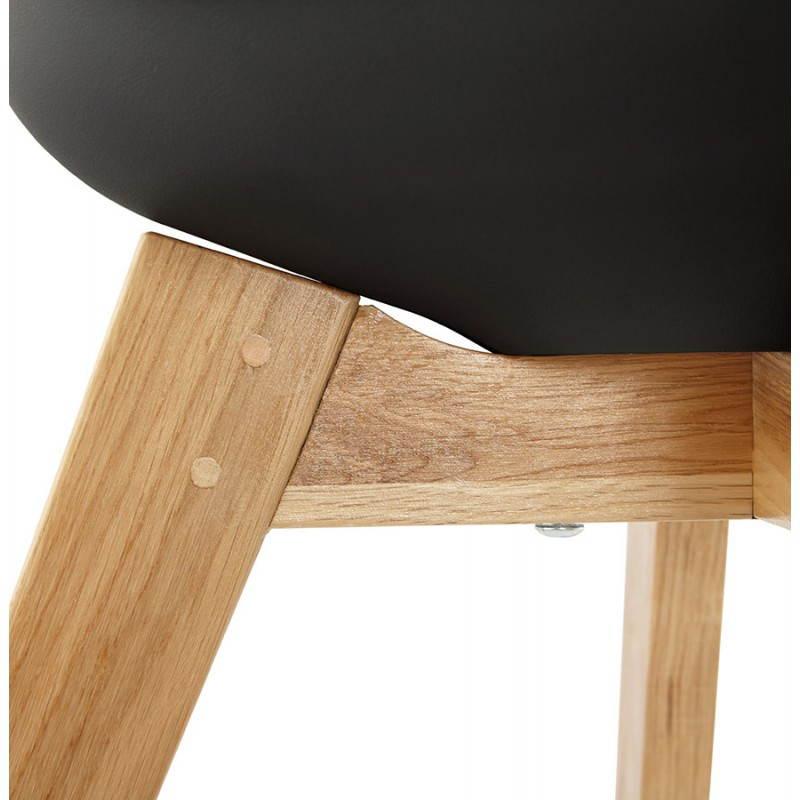 Chaise contemporaine style scandinave FJORD (noir) - image 27813