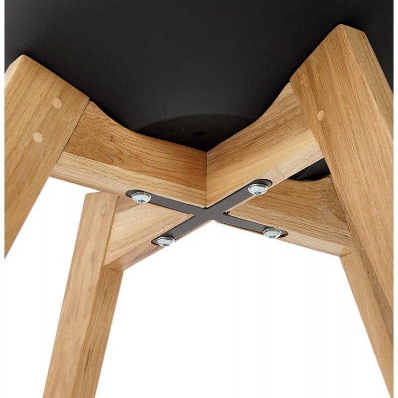 Chaise contemporaine style scandinave FJORD (noir) - image 27814