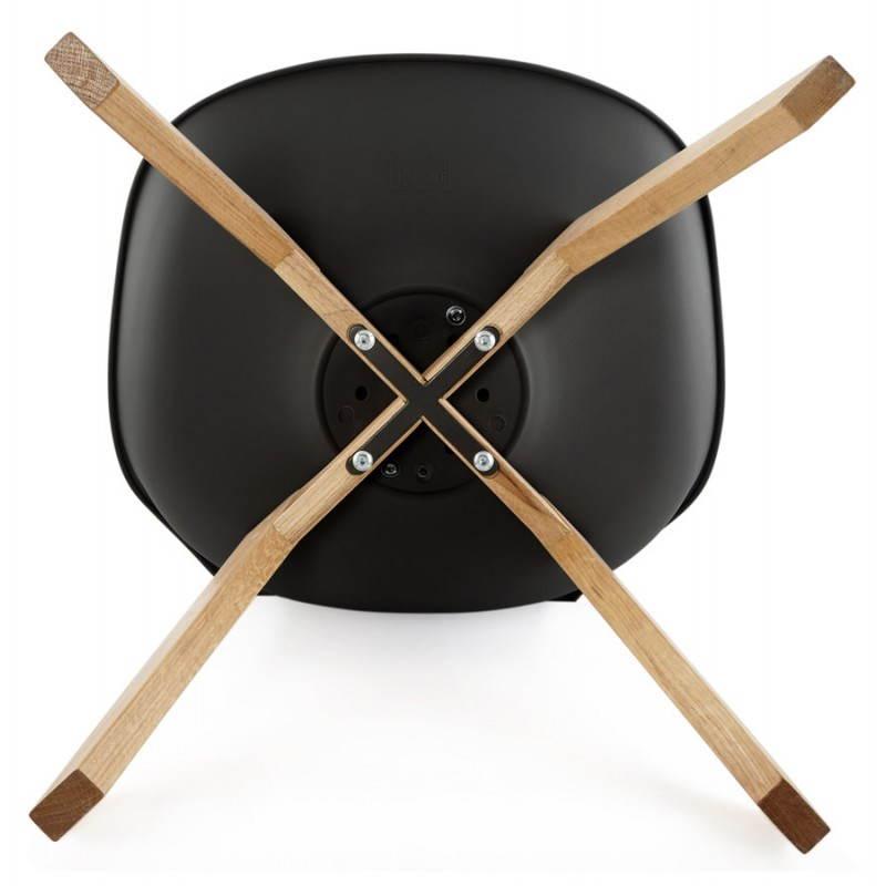Chaise contemporaine style scandinave FJORD (noir) - image 27816