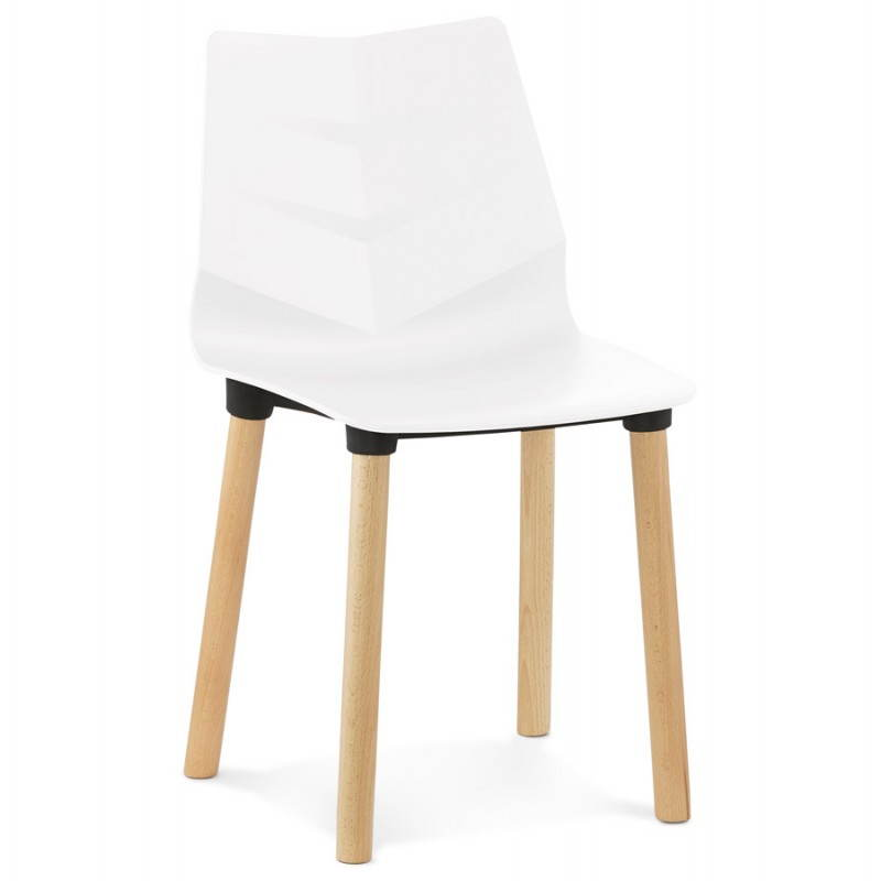 Chaise design scandinave SUEDE (blanc) - image 27817