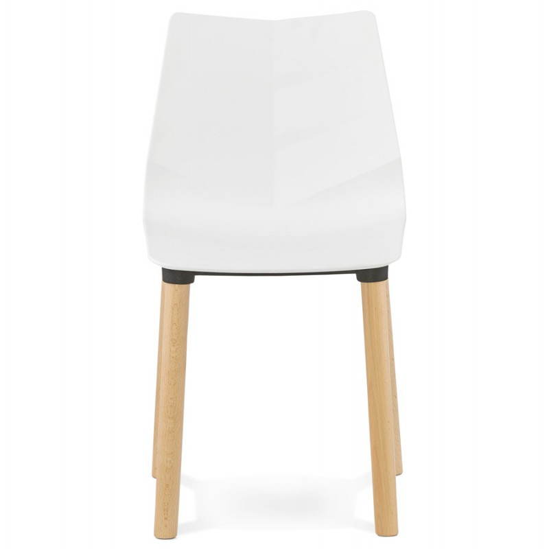 Chaise design scandinave SUEDE (blanc) - image 27818