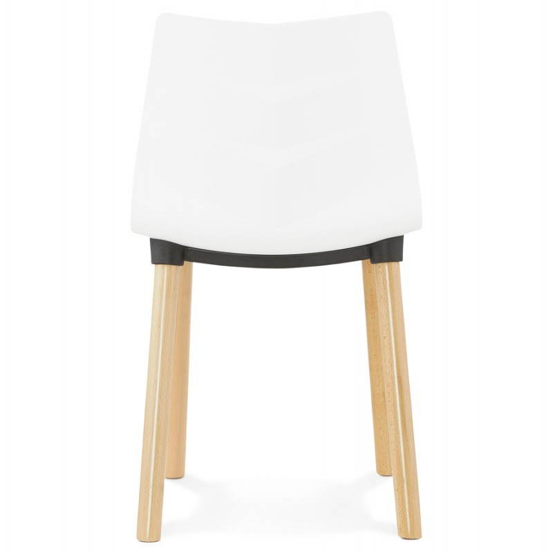 Chaise design scandinave SUEDE (blanc) - image 27821