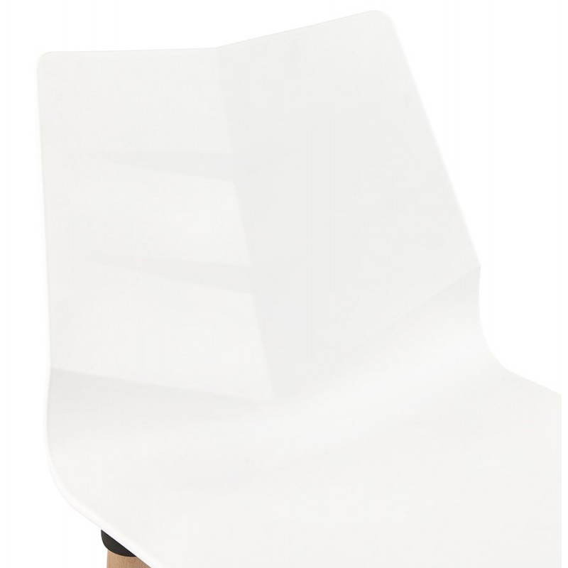 Chaise design scandinave SUEDE (blanc) - image 27822