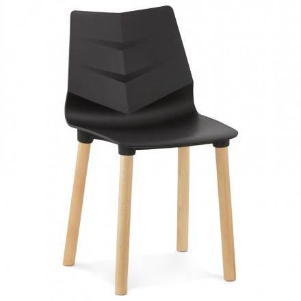 Silla de diseño escandinavo SUECIA (negro)