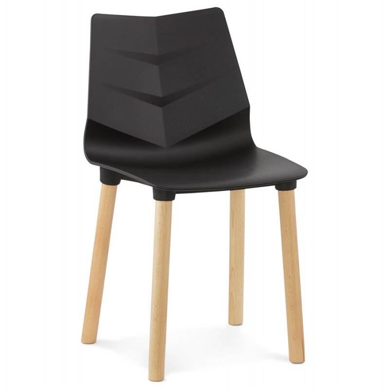 Chaise design scandinave SUEDE (noir) - image 27830