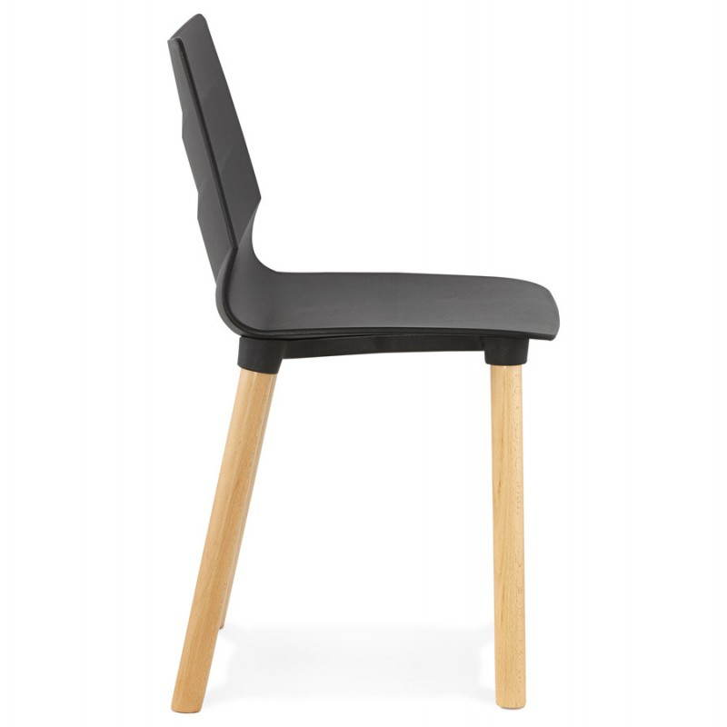 Chaise design scandinave suede noir - Chaise scandinave design ...