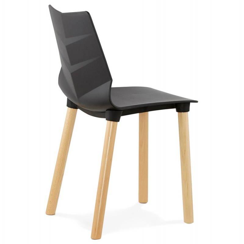 Skandinavisches Designstuhl Schweden Schwarz
