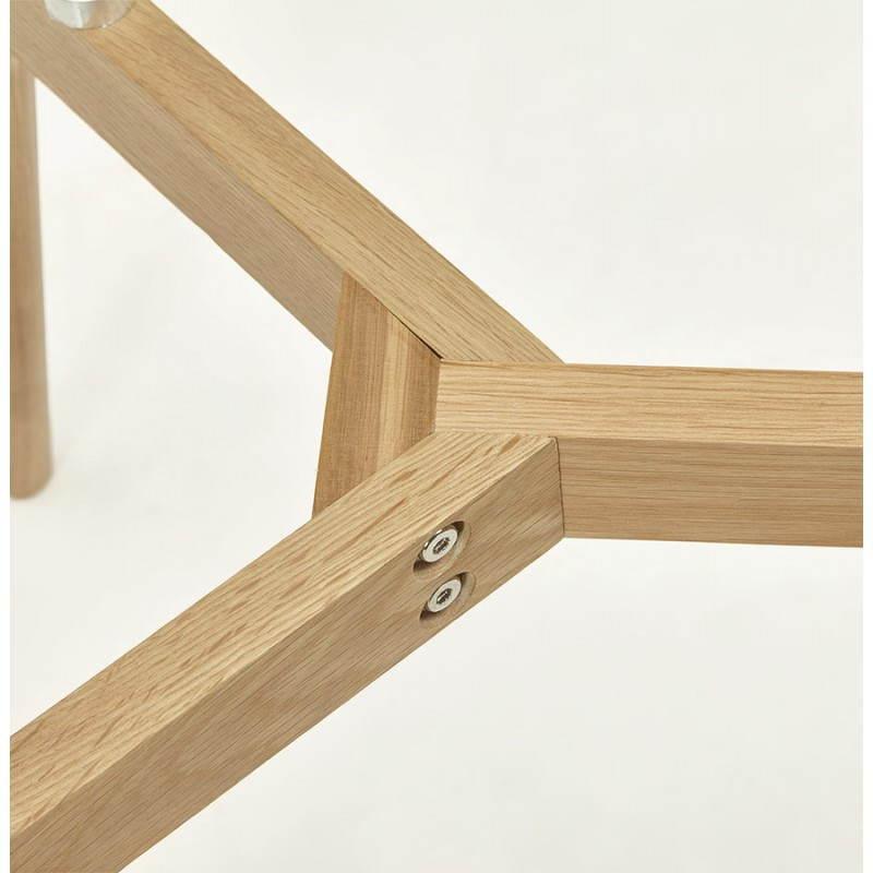 Table basse rectangulaire style scandinave HENNA en verre et chêne (transparent) - image 27878