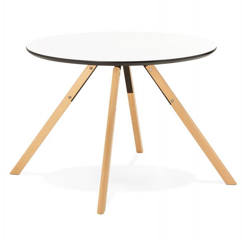 table de repas ronde scandinave biba en bois et h tre. Black Bedroom Furniture Sets. Home Design Ideas