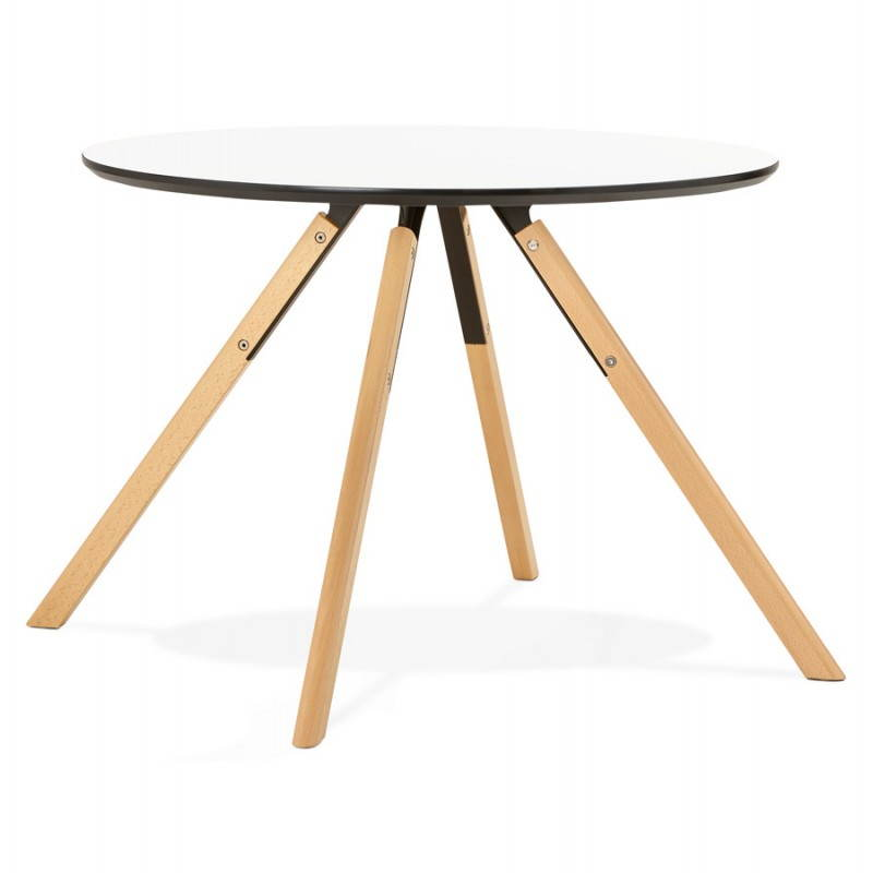 table de repas ronde scandinave biba en bois et h tre. Black Bedroom Furniture Sets. Home Design Ideas