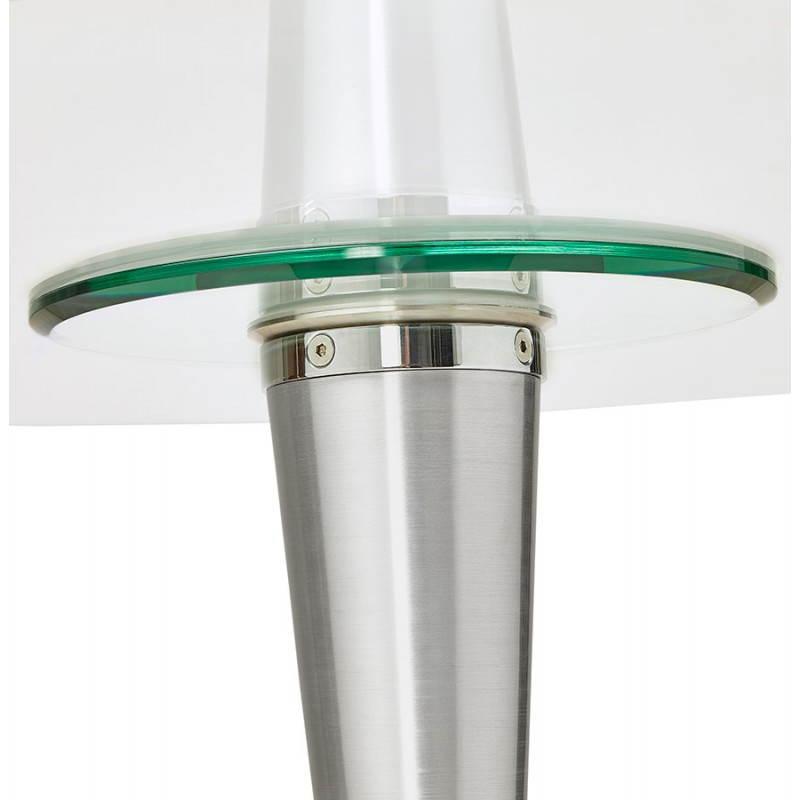 Table de repas design ronde URBAN en verre trempé et aluminium ...