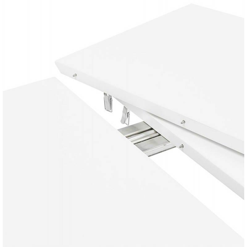 Table à manger style scandinave avec rallonges TRINE en bois (170/270cmX100cmX74,8cm) (blanc) - image 28192