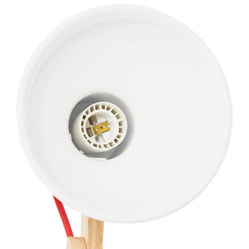 Lampada da terra design LOFT in metallo e legno (naturale, bianco) - image 28213