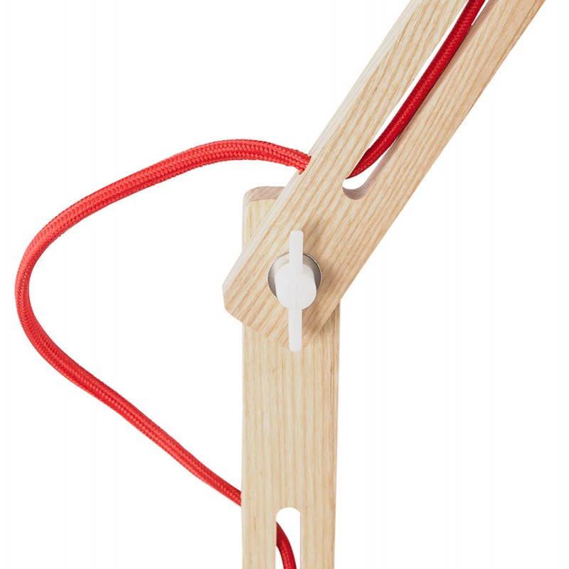 Lampada da terra design LOFT in metallo e legno (naturale, bianco) - image 28216