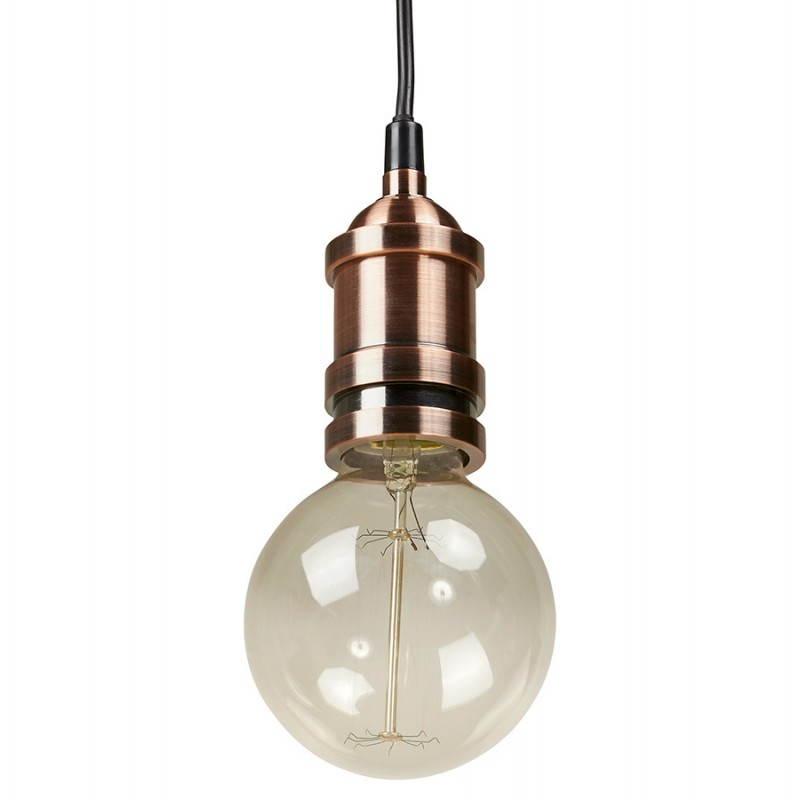 Douille Pour Lampe à Suspension Vintage Industrielle Eros En Métal Cuivre Lampes Suspendues