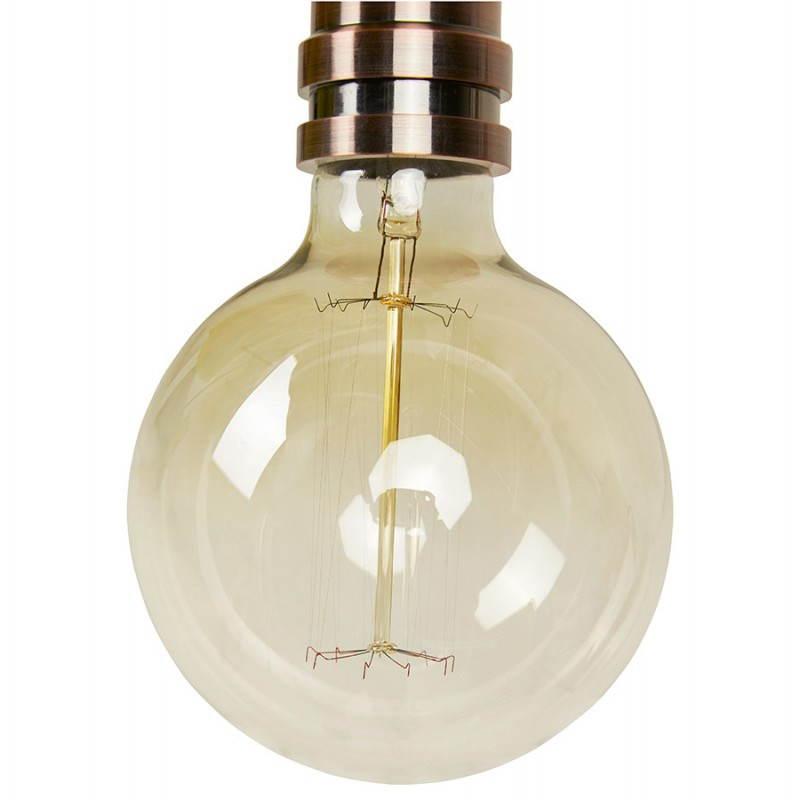 Douille pour lampe à suspension vintage industrielle EROS en métal (cuivre) - image 28229