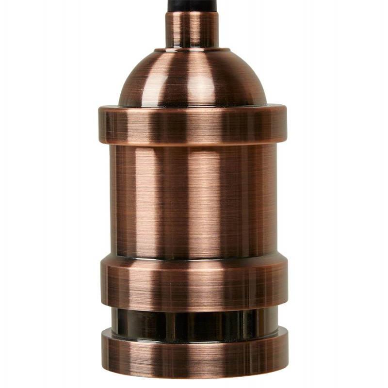 Douille pour lampe à suspension vintage industrielle EROS en métal (cuivre) - image 28231