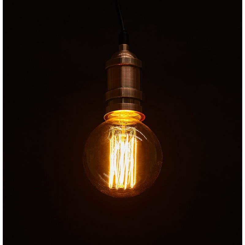 Douille pour lampe à suspension vintage industrielle EROS en métal (cuivre) - image 28236