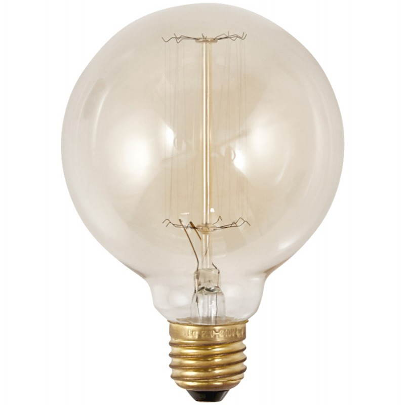 Bulb round IVAN industrial vintage glass (transparent, smoked)