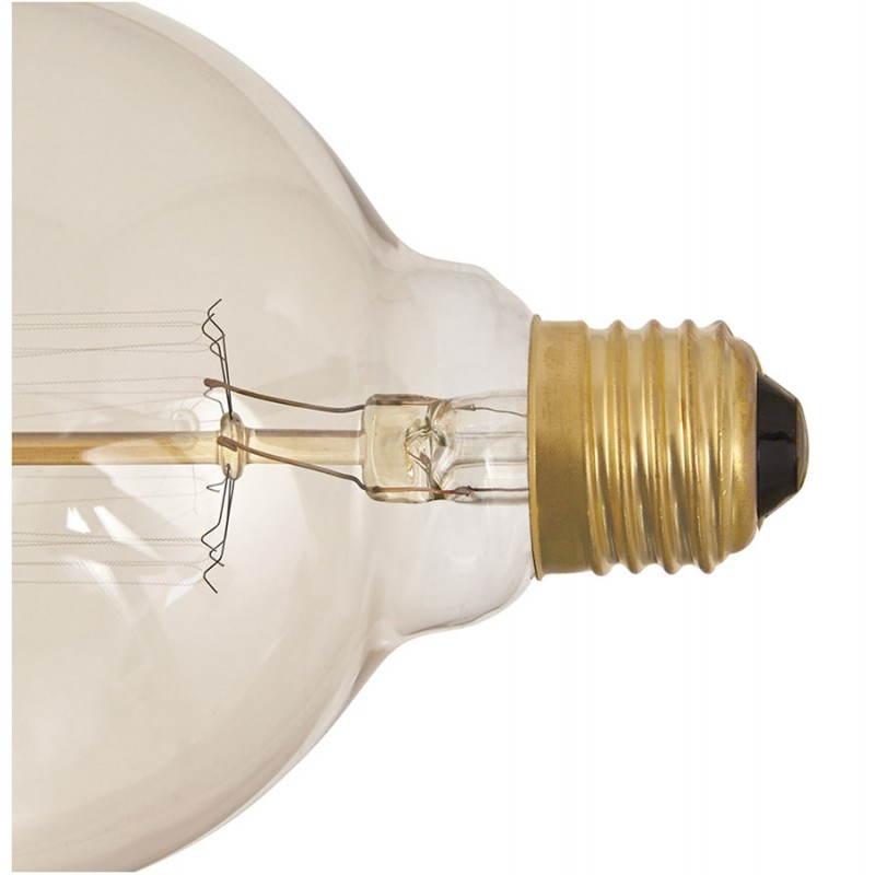 Ampoule ronde vintage industrielle IVAN en verre (transparent, fumé) - image 28242