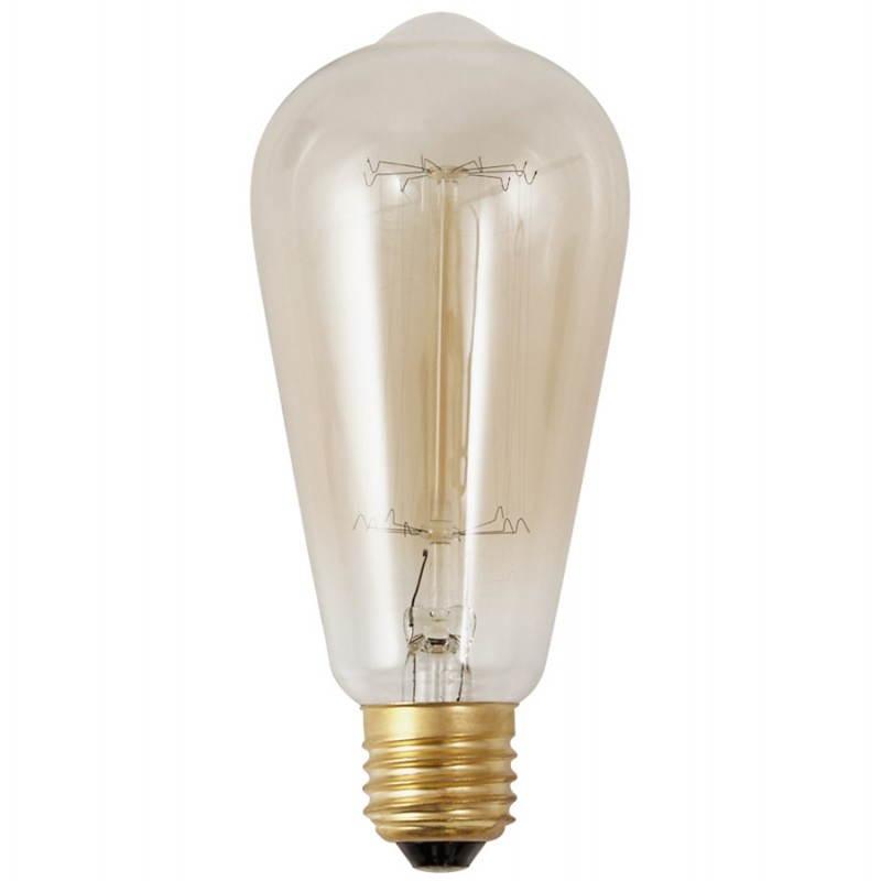 Ampoule longue vintage industrielle IVAN en verre (transparent, fumé) - image 28246