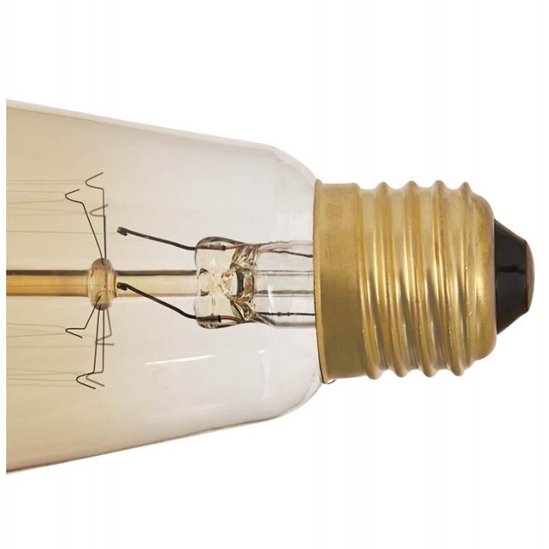 Ampoule longue vintage industrielle IVAN en verre (transparent, fumé) - image 28249