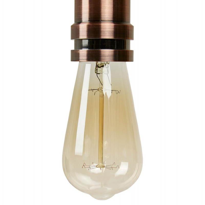 Ampoule longue vintage industrielle IVAN en verre (transparent, fumé) - image 28251