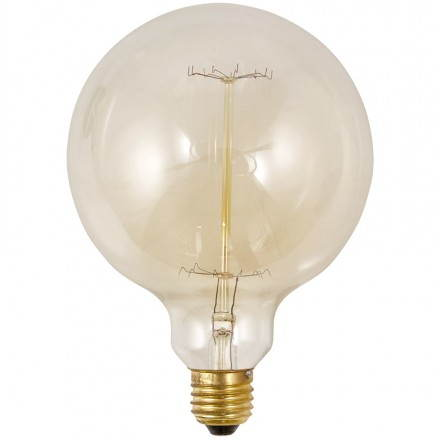 Bulb round IVAN BIG industrial vintage glass (transparent, smoked)