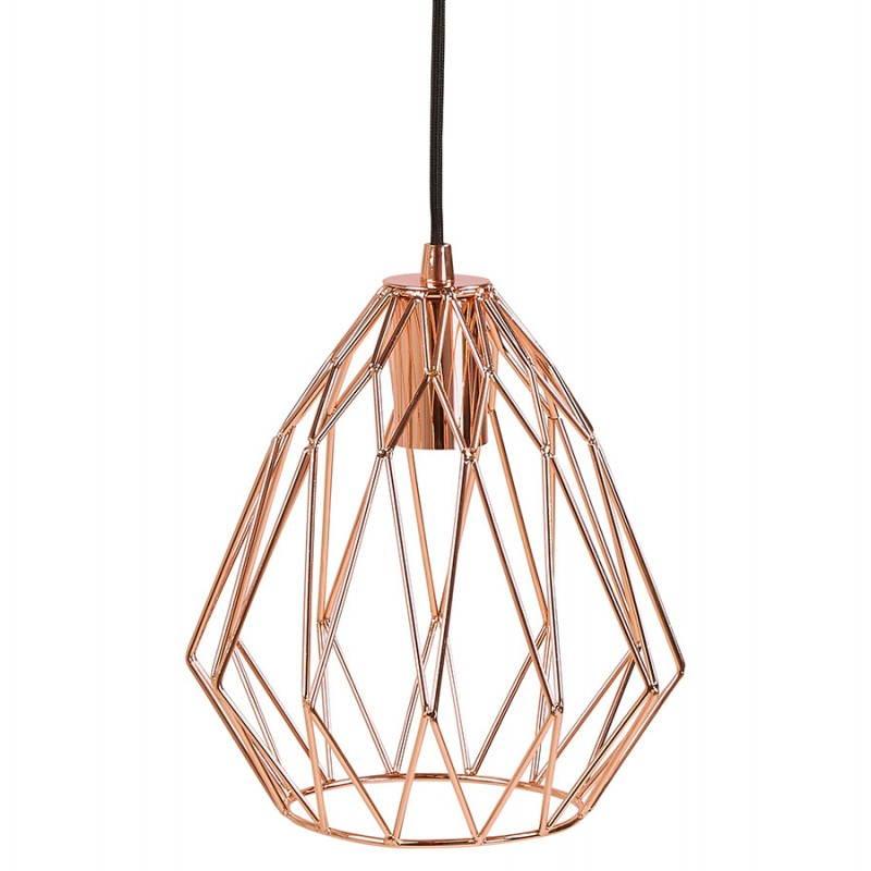 Lampe à suspension vintage MOSS en métal (cuivre) - image 28260
