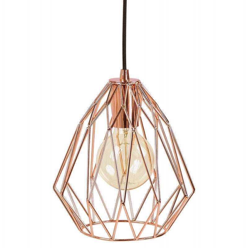 Lampe A Suspension Vintage Moss En Metal Cuivre