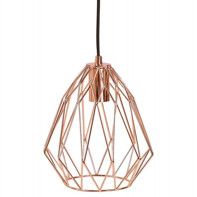 Lampe à suspension vintage MOSS en métal (cuivre) - image 28262