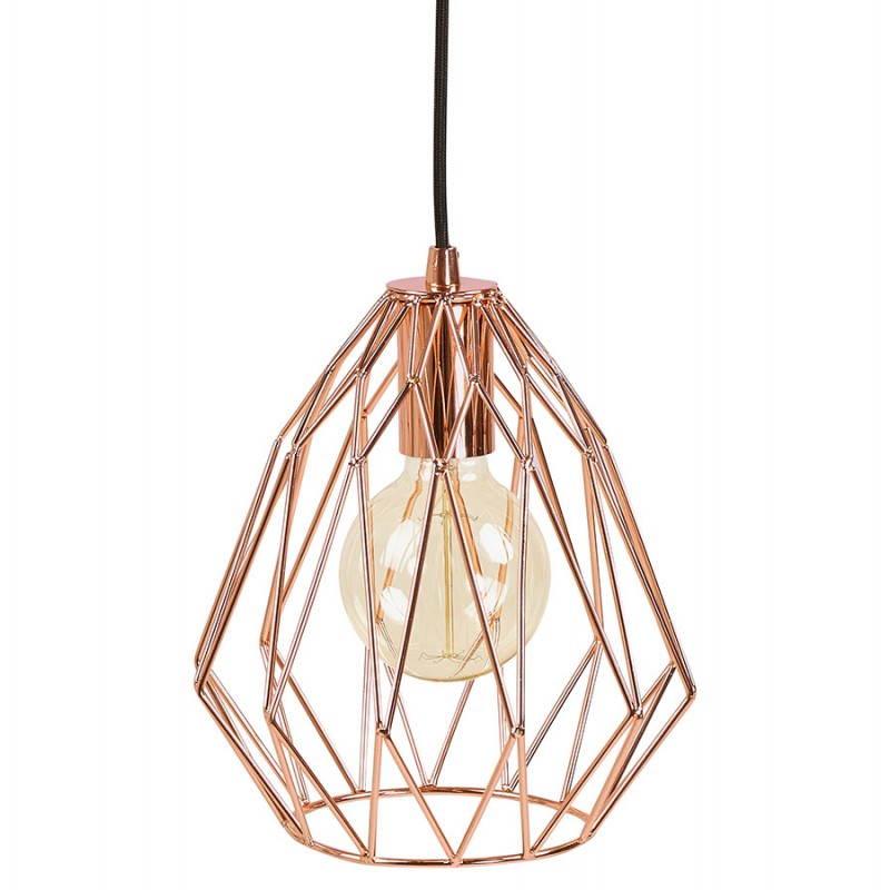 Lampe à suspension vintage MOSS en métal (cuivre) - image 28263