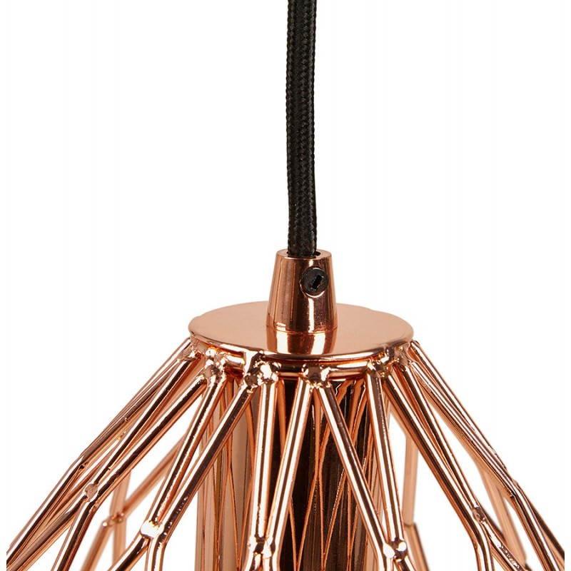 Lampe à suspension vintage MOSS en métal (cuivre) - image 28265
