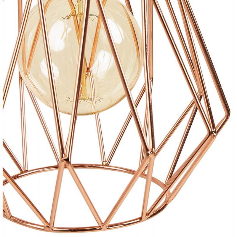 Lampe à suspension vintage MOSS en métal (cuivre) - image 28266