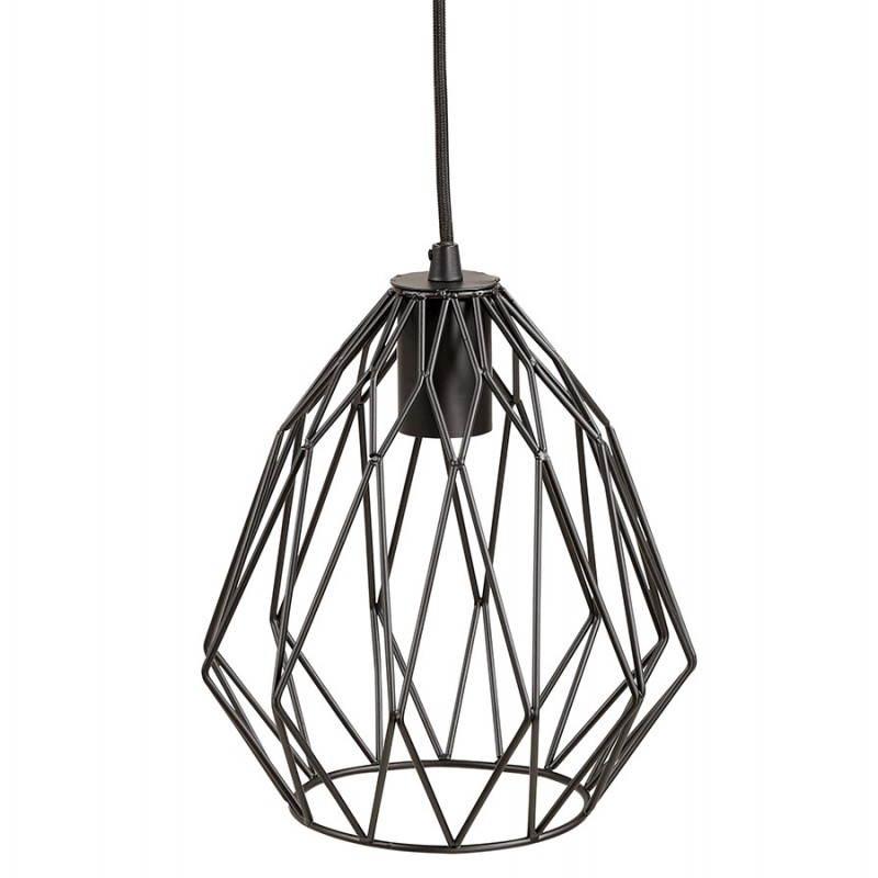 Lampe à suspension vintage MOSS en métal (noir) - image 28273