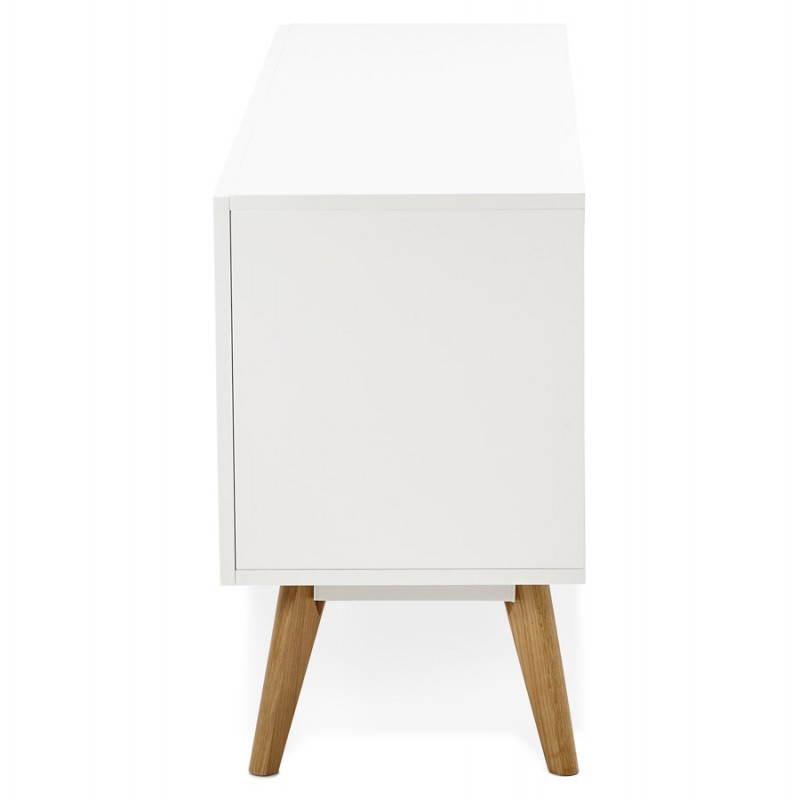 Progettazione di porte in legno di riga stile buffet scandinavo 2 KARL (bianco opaco) - image 28286