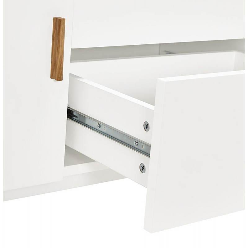 buffet enfilade design style scandinave 2 portes karl en bois blanc mat. Black Bedroom Furniture Sets. Home Design Ideas