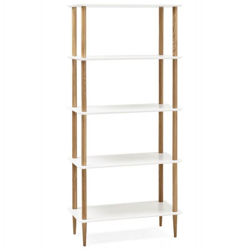 Etagère bibliothèque design style scandinave ERIKA en bois (blanc) - image 28299
