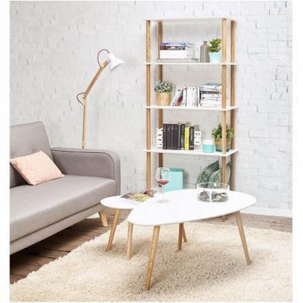 Regal Bücherregal Designstil Skandinavischen Erika Aus Holz Weiß