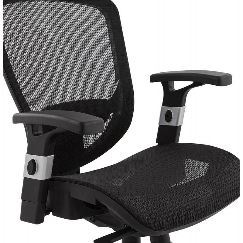 Fauteuil de bureau design et moderne ergonomique AXEL en tissu (noir) - image 28314
