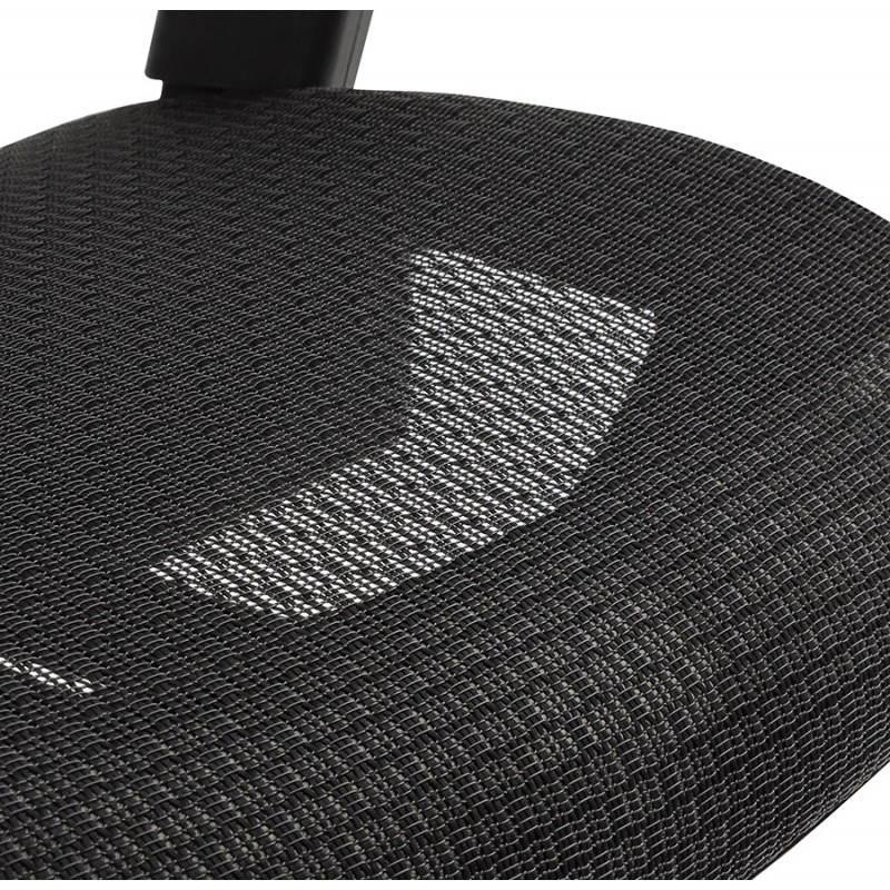 Fauteuil de bureau design et moderne ergonomique AXEL en tissu (noir) - image 28315